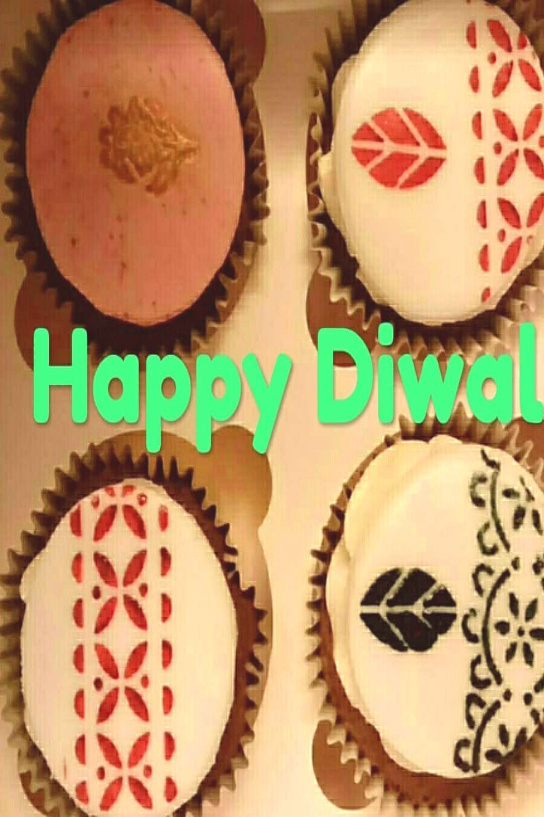 Festive Cupcakes!! Traditional designs for the festival of Diwali