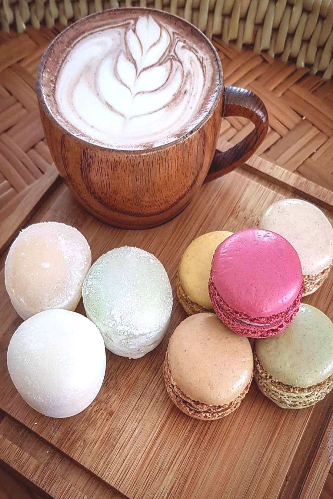 Get in my belly yummy sweets.. # # #macaronslover #mochiicecream