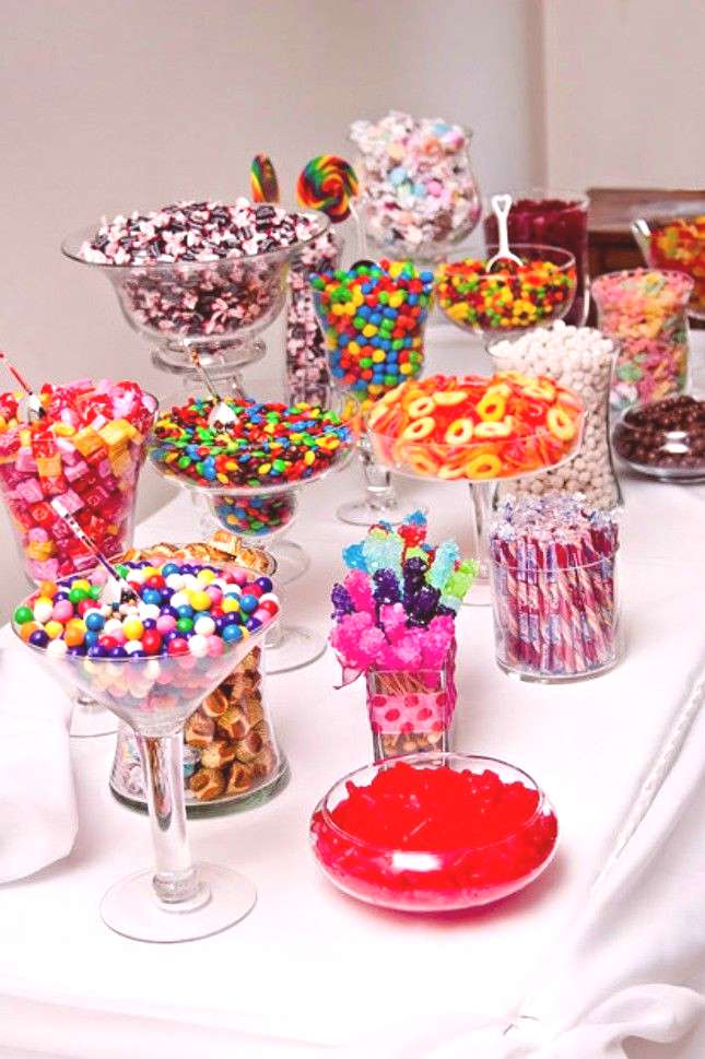 Get ready to binge watch with this super sweet candy buffet.