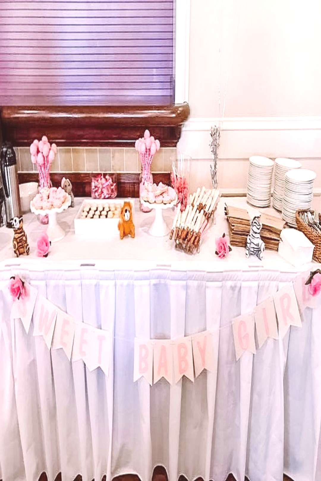 Glitter Free Girl banner to decorate the gorgeous sweets table by