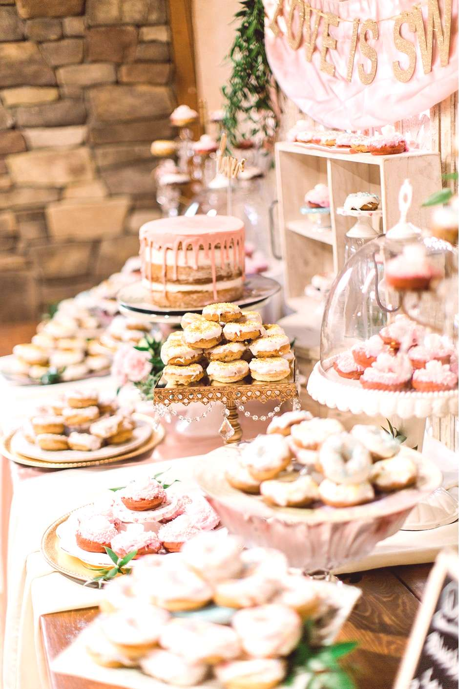 Hello, ultimate wedding sweet table inspiration! If youre planning a dessert table, this blush pin