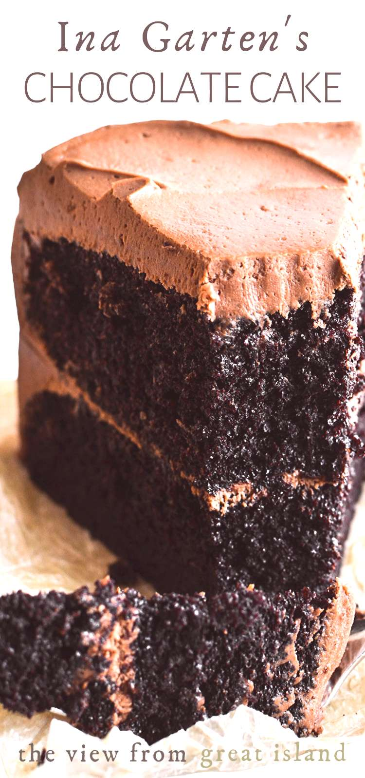 Ina Gartens Chocolate Cake Ina Gartens Chocolate Cake Recipe is the ultimate chocolate layer cake