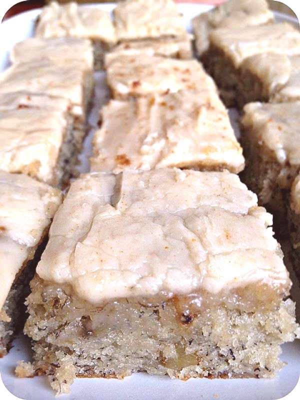 Infamous Banana Bread Bars with Brown Butter Frosting