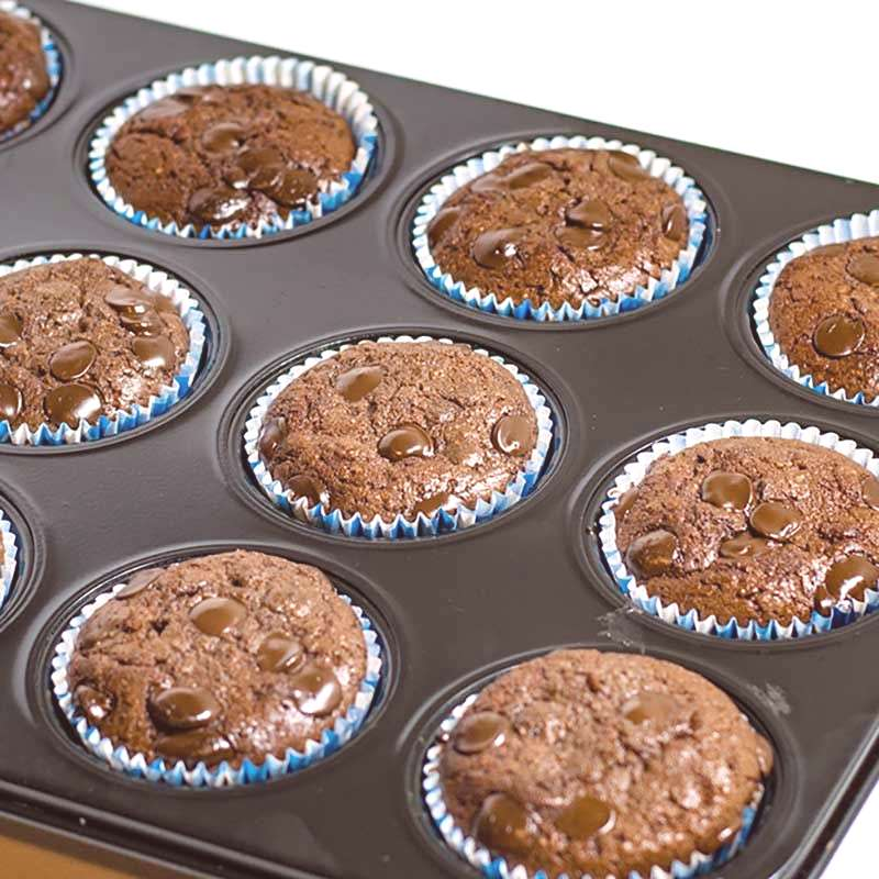 Keto Double Chocolate Muffins. These delicious gluten-free muffins are a tasty sweet treat, great f