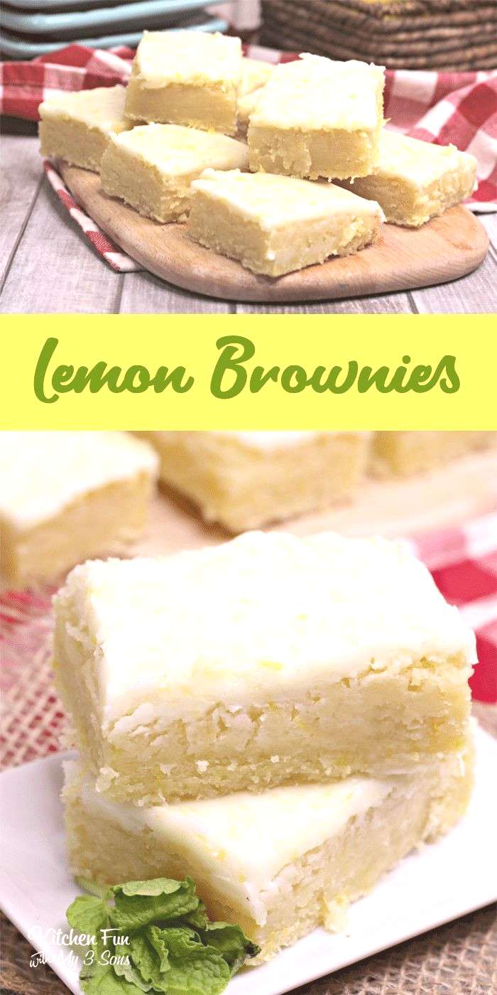Lemon Brownies are my new favorite dessert. Topped with a delicious lemon glaze, they are just the