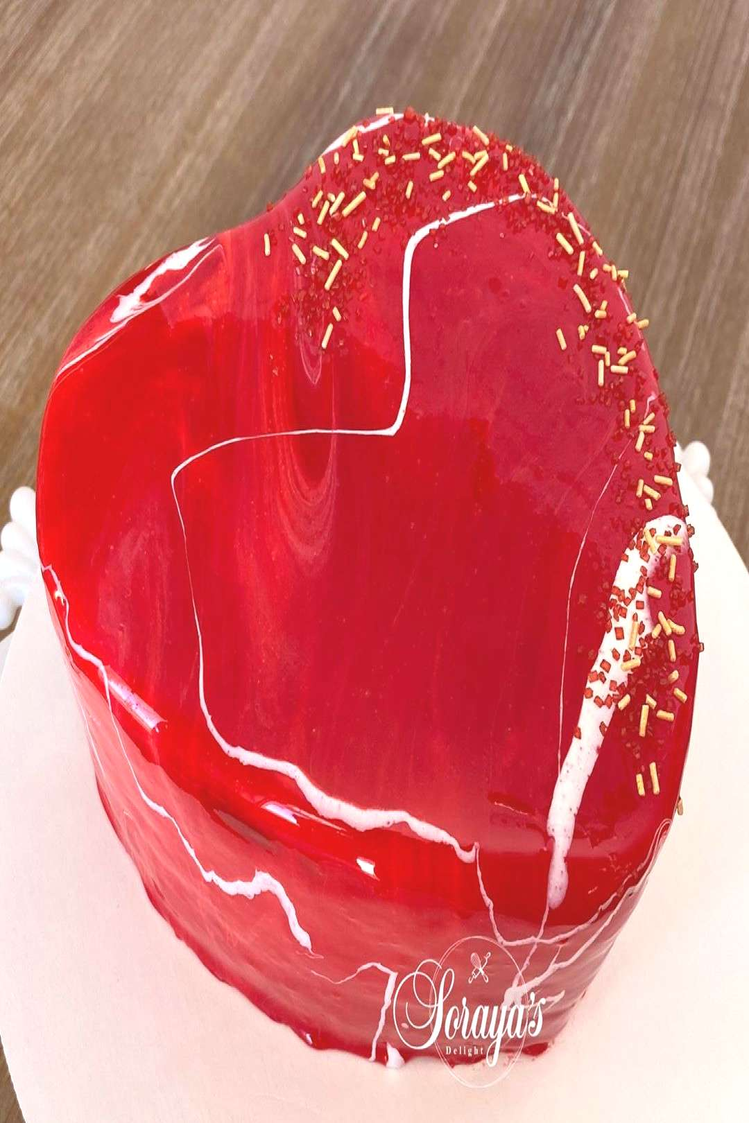 Mirror glazed Valentine cake Place your orders at: #valentine #va