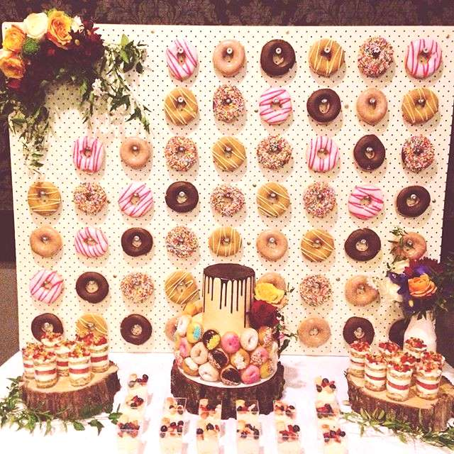 My 26th spent with everyone amp everything I love. Donut wall by @littleluuluuscakes Donuts by @kri