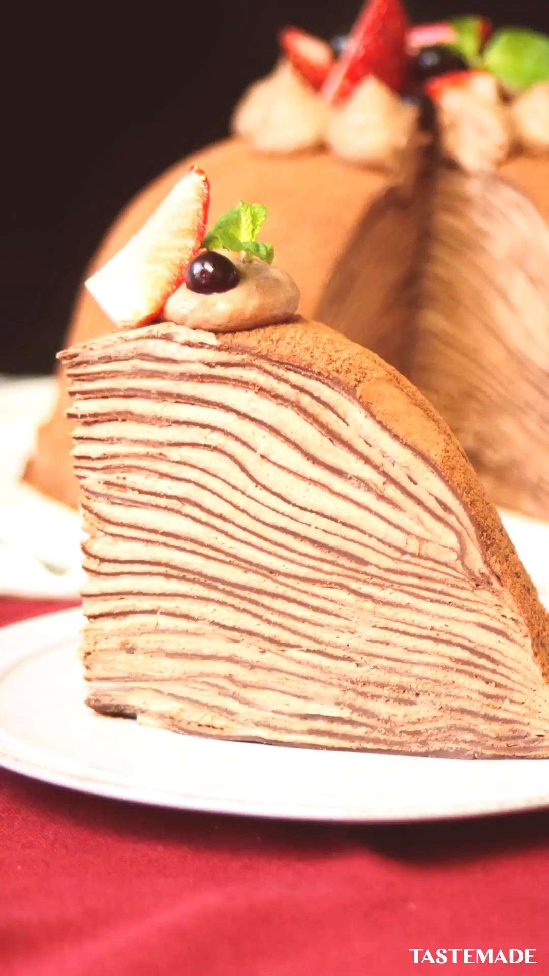 No-Bake Chocolate Ganache Cake Chocolate lovers, this no-bake, layered crepe cake is for you.