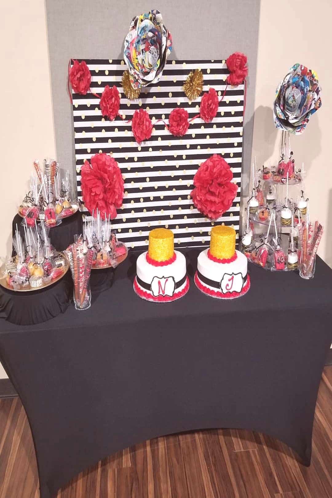 Our first fully designed dessert table for a double birthday part