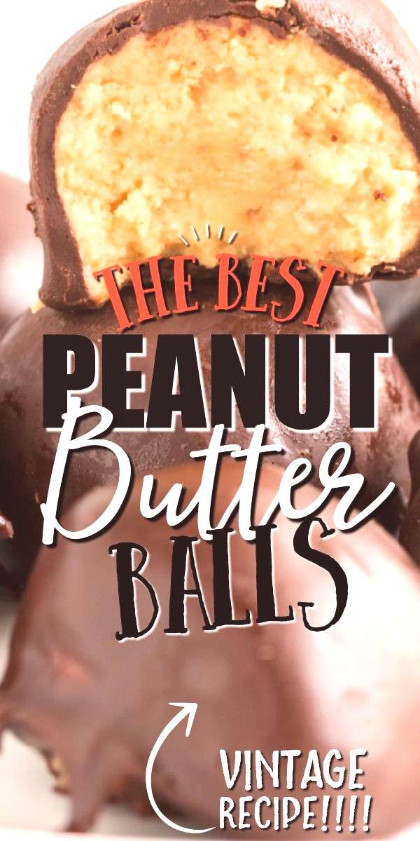 Peanut Butter Balls These rich, buttery, and creamy old-fashioned peanut butter balls are a classic