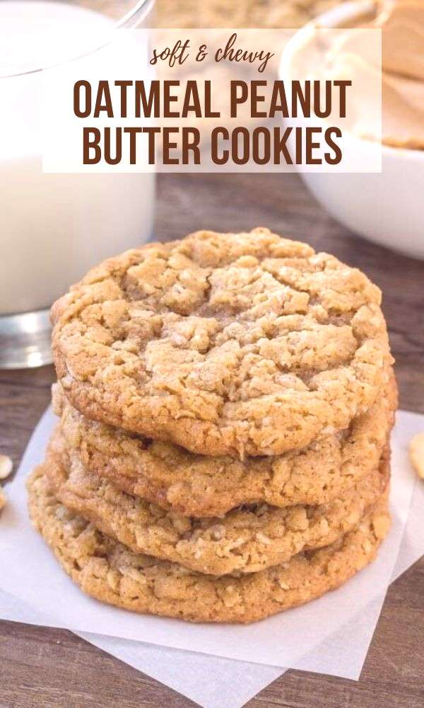 Peanut Butter Oatmeal Cookies These easy peanut butter oatmeal cookies are soft, chewy and the best