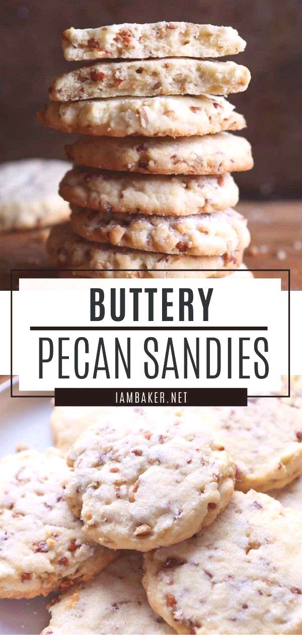 Pecan Sandies Pecan Sandies are rich buttery shortbread cookies filled with glorious pecans! They a