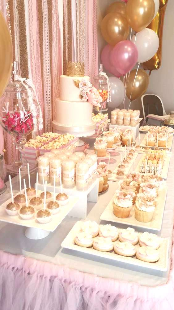 Pink and Gold Birthday Party Ideas | Photo 6 of 20 | Catch My Party