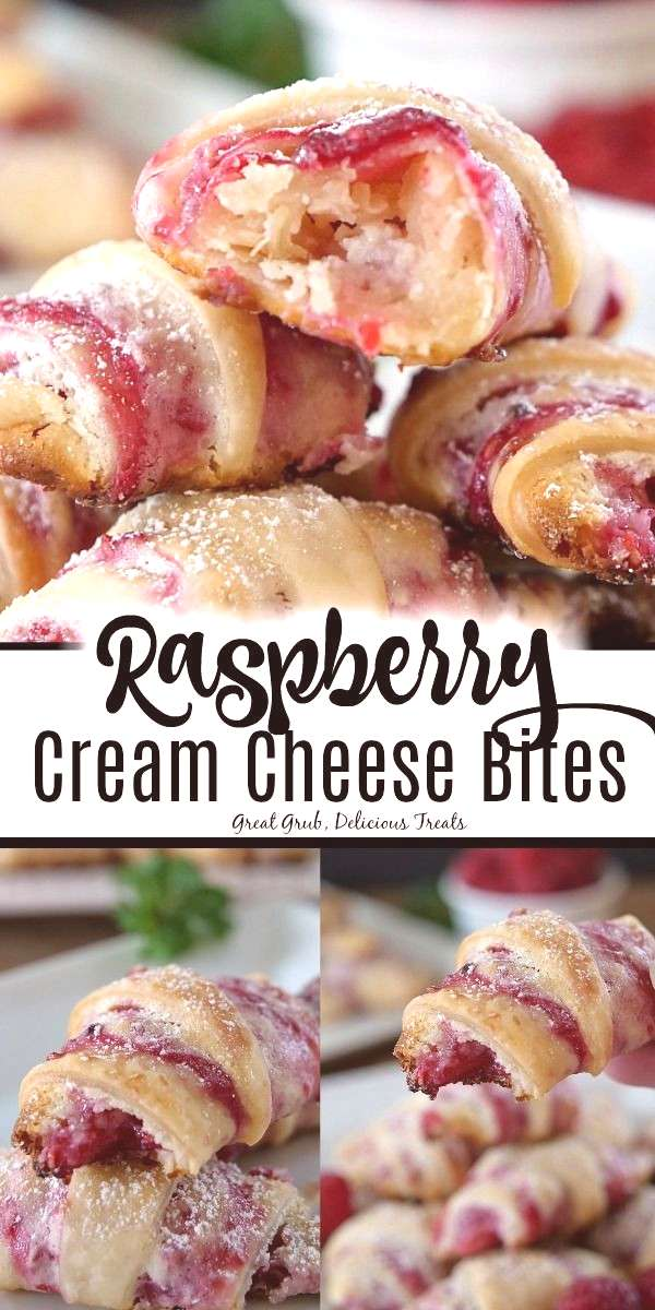 Raspberry Cream Cheese Bites Raspberry Cream Cheese Bites are a delicious pastry snack filled with