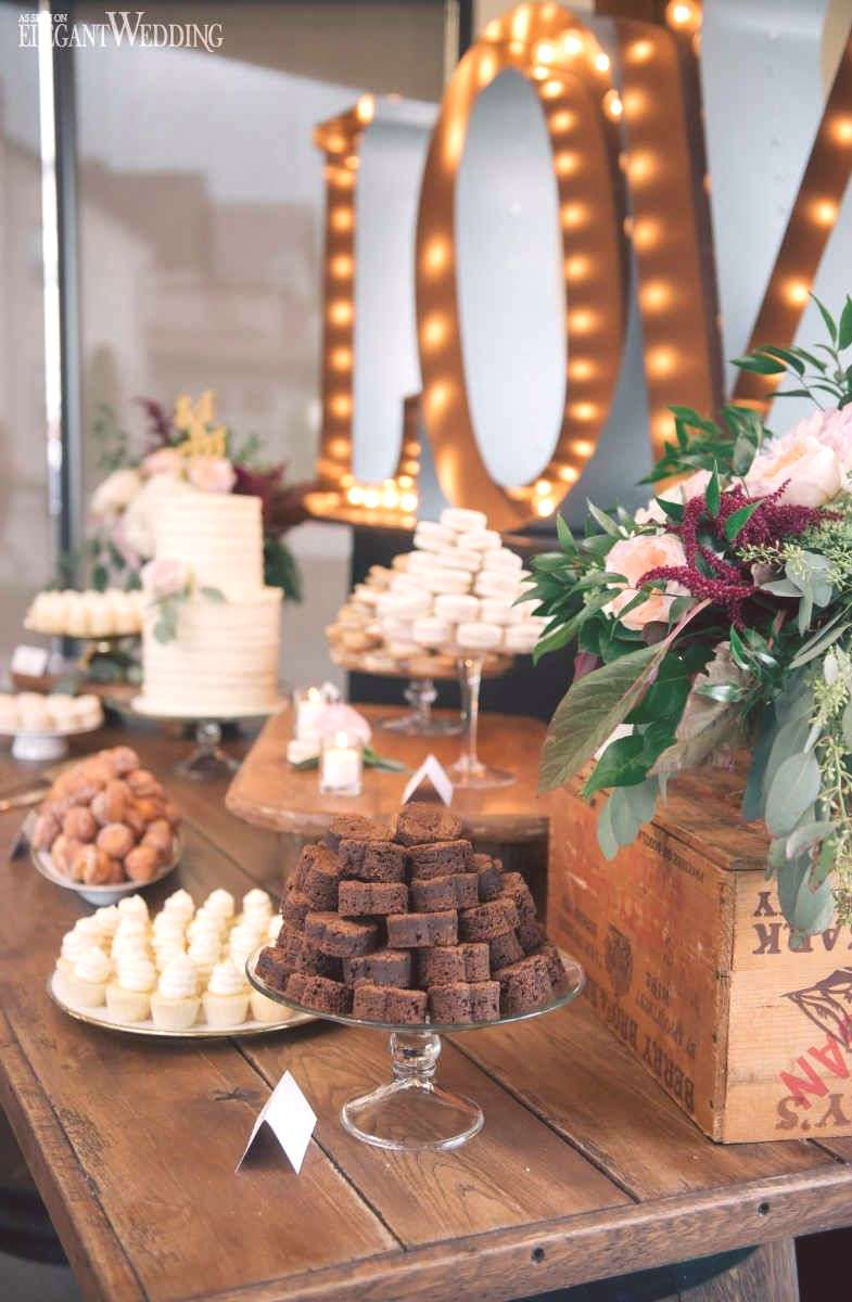 Rustic Wedding Sweet Table Ideas, Marquee Letter Sweet Table |