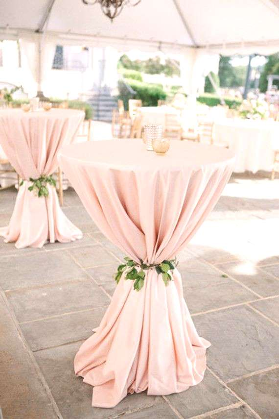 Ships 1 day blush, wrinkle free fabric tablecloths easily cleans. CHOOSE SIZE from drop down menu.