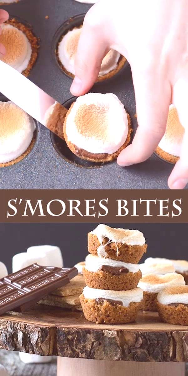 S'mores Bites S'mores Bites - a twist on the classic dessert, make these little S'mores Bites in th