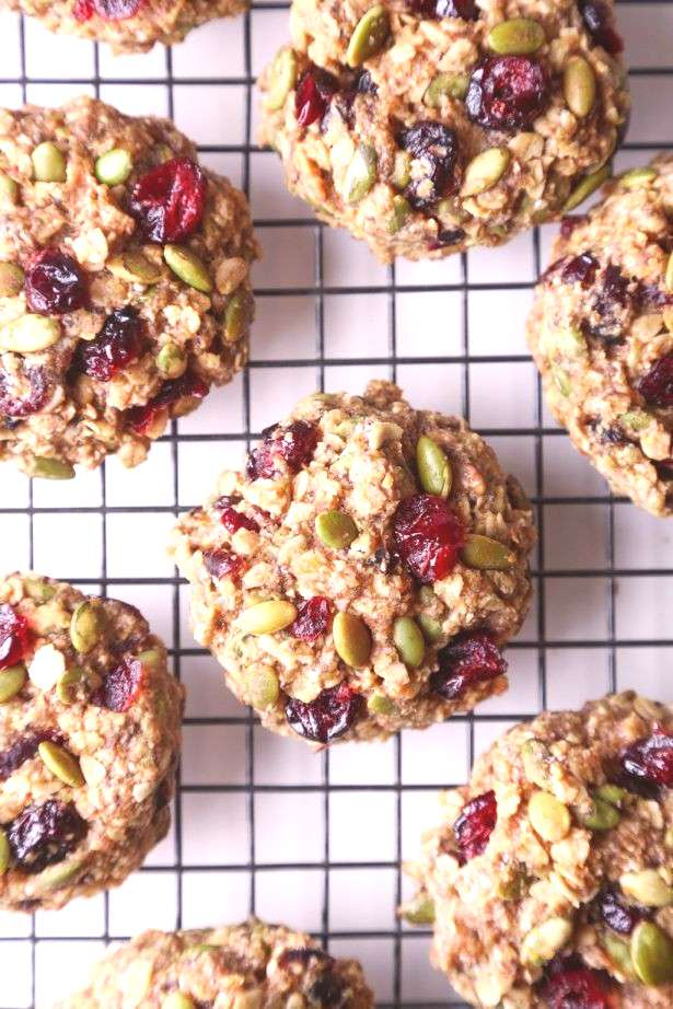 Superfood Breakfast Cookies These cookies are jam-packed with nutritious and healthy ingredients. T