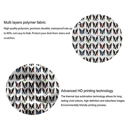 SWEET TANG Tablecloth, Boston Terrier Dog Funny (1) Round