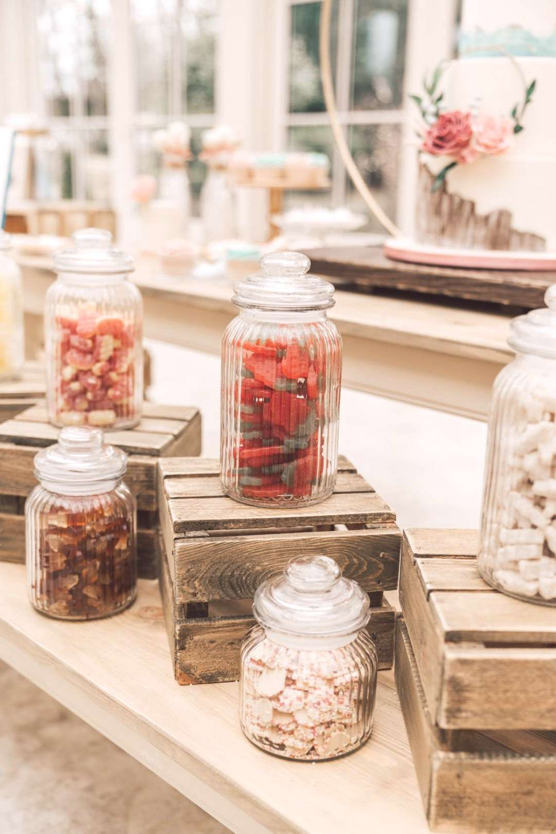 Sweets Sweetie Table Bar Station Hoop Wedding Ideas Rebecca Carpenter Photography