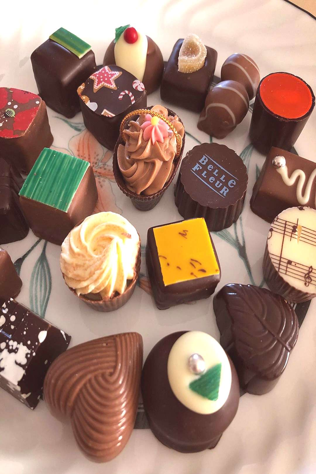 The chocolates taste delicious and beautifully decorated as well