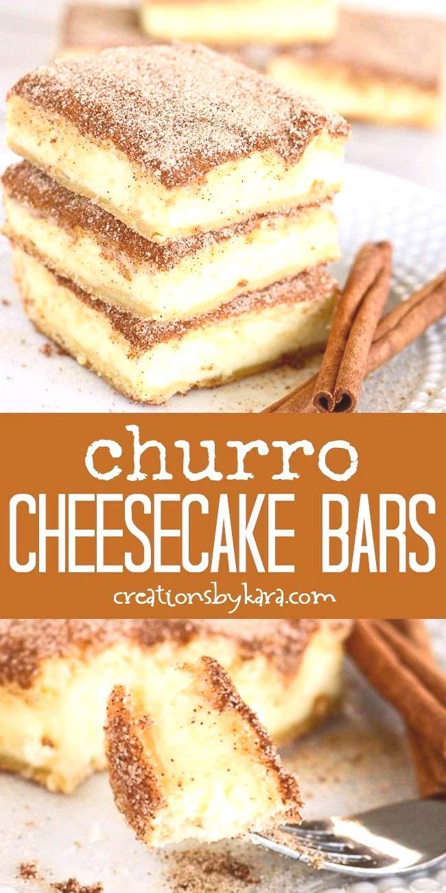 The crunchy cinnamon of churros combined with the creamy tanginess of cheesecake. Churro cheesecake
