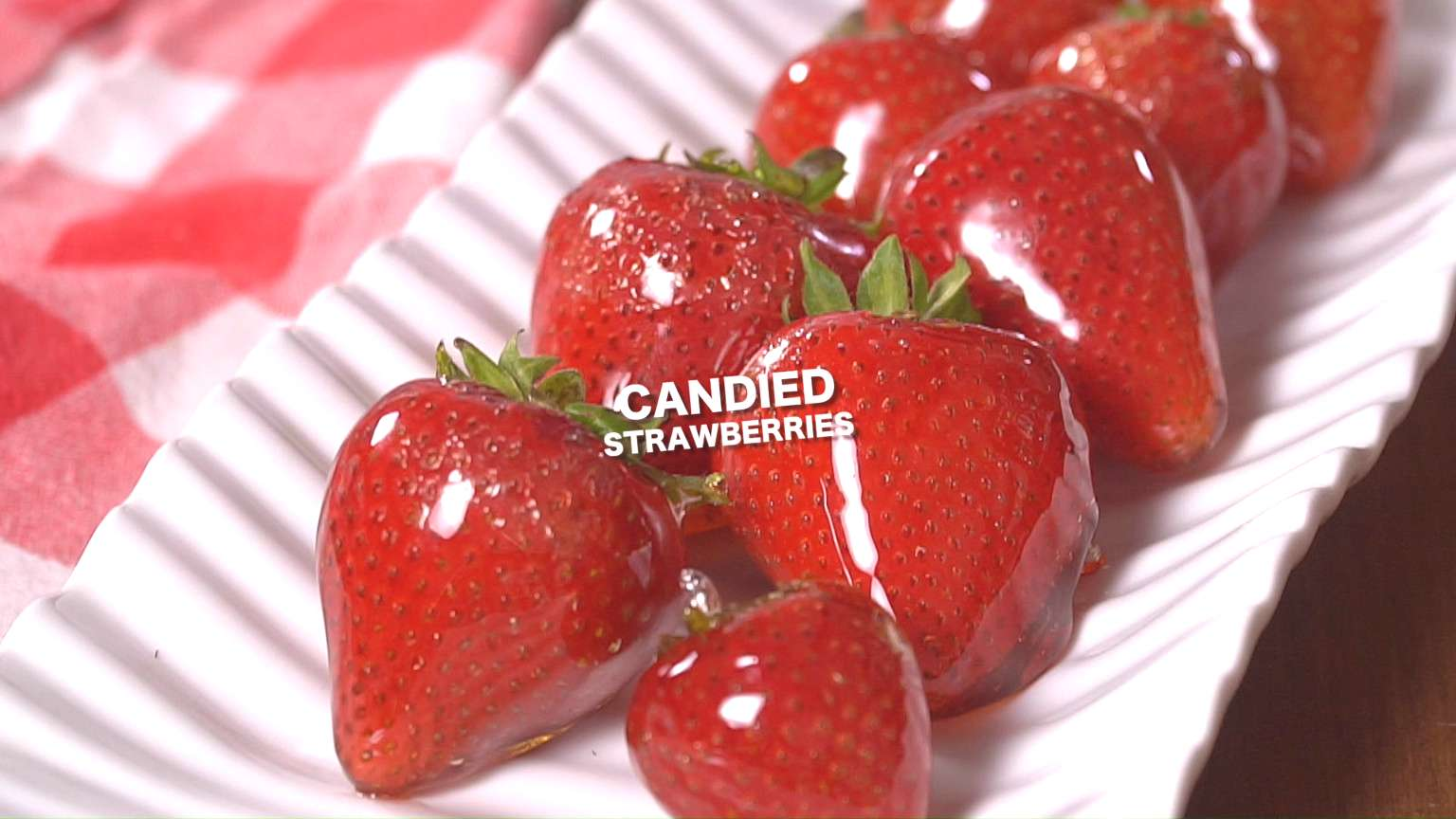 These Candied strawberries are easy to make and a fun unique way to enjoy fresh strawberries. A th