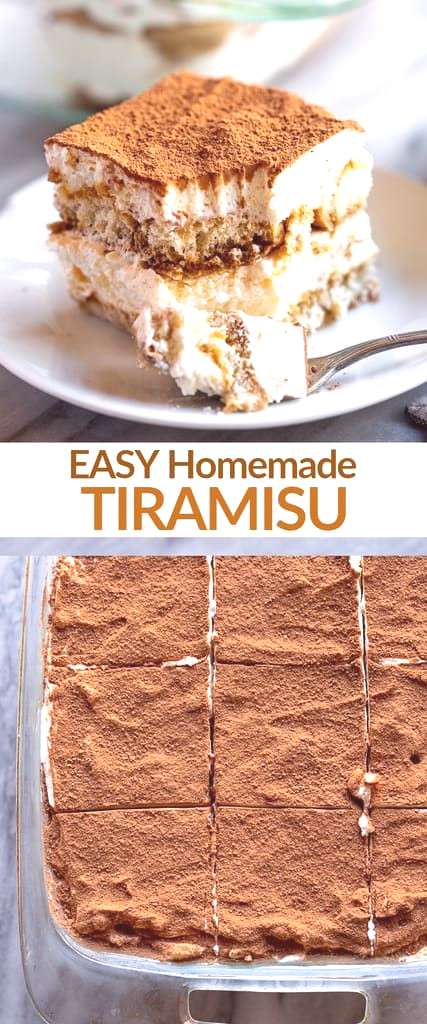 This creamy, delicious and unbelievably EASY tiramisu recipe is made with coffee soaked lady finger
