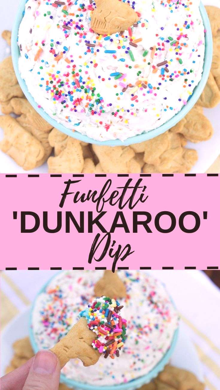 This delicious Funfetti 'Dunkaroo' Dip is made with only 4 ingredients and tastes exactly like the