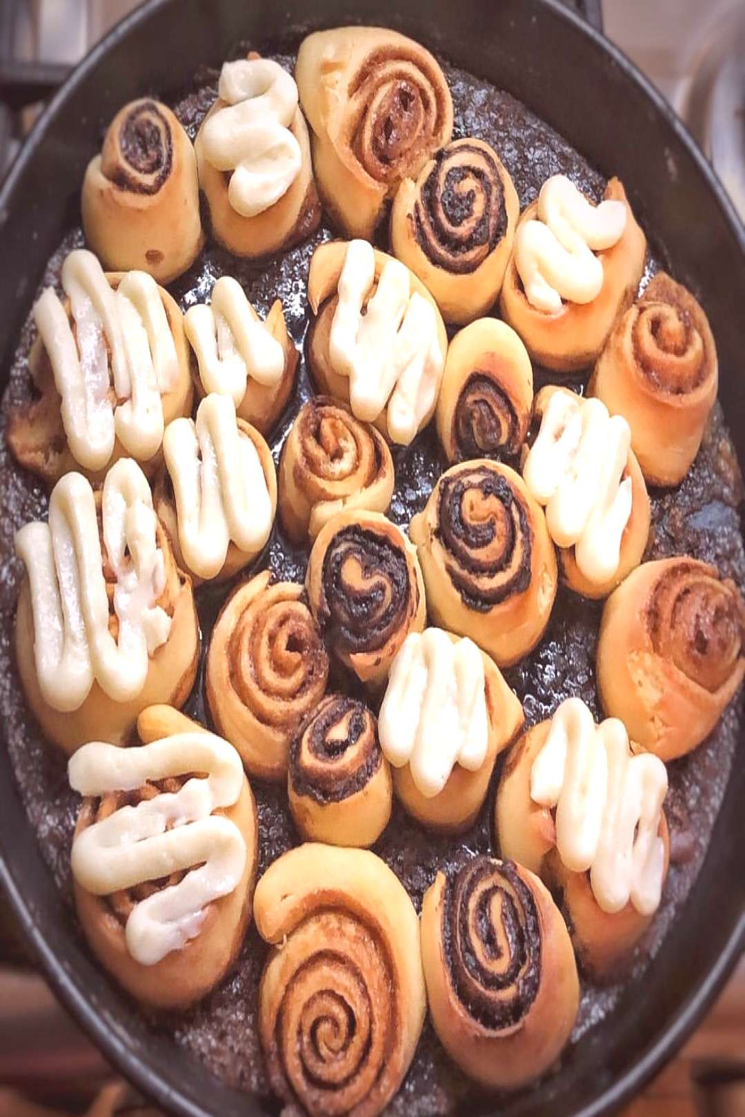 What's better than freshly baked cinnamon and nutella rolls?For t